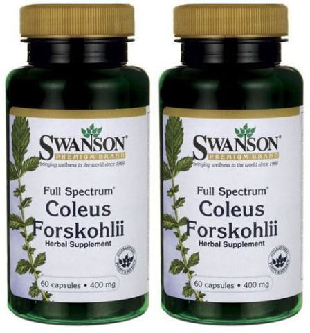 2 PACK FORSKOLIN Coleus Forskohlii Weight Control 20% Extract Max 400mg Swanson
