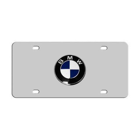 BMW Logo Mirror License Plate Acrylic - HIGH GLOSS Tag Emblem - MIRRORED 6X12'