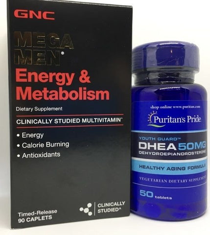90ct GNC Mega Men Energy & Metabolism Vitamins ++PLUS++ DHEA Sexual Youth Pill