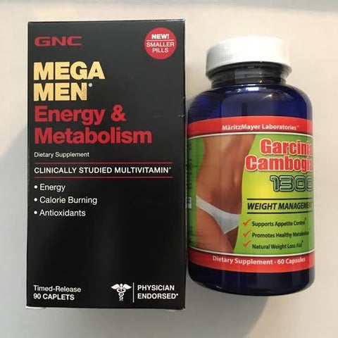 GNC Mega Men Energy & Metabolism 90 Caps +AND+ 60% HCA Garcinia Cambogia