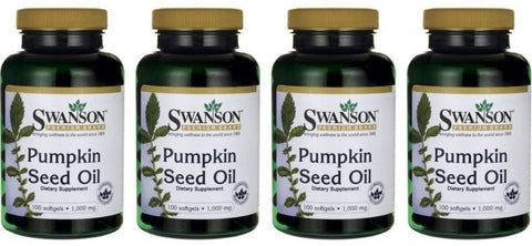 4-PACK Swanson Pumpkin Seed Oil 1000 mg (100 x 4) - Prostate / Men's Health