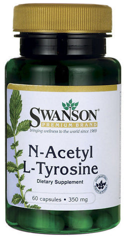 N-Acetyl L-Tyrosine 60 Caps by Swanson Powerful Amino Acids Many Key Benefits