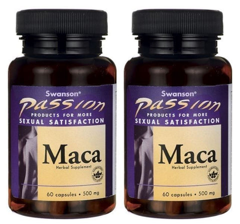 2 PACK Maca Root Extract 60 Capsules PASSION - Sexual, Intimacy Enhancer