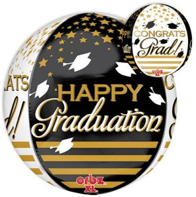 Congrats Grad Gold & Black