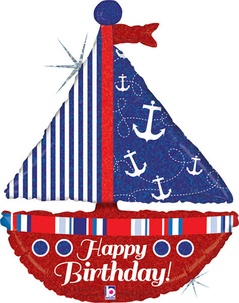 Birthday Nautical Sailboat