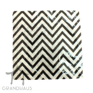 Black Chevron Serviette