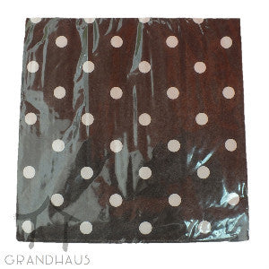 Black Polka Dots Serviette