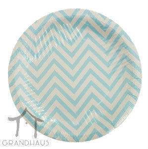 Blue Stripes Round Plate
