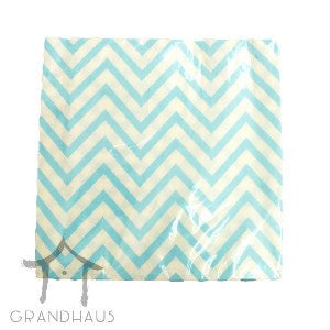 Blue Chevron Serviette