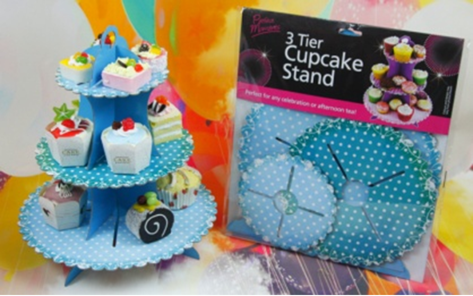 Cupcake Stand - Playful Blue