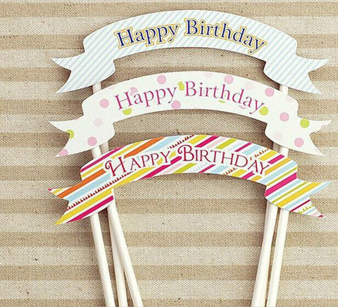 Happy Birthday Cake Topper (DIY)