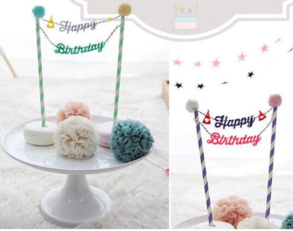 Happy Birthday Cake Topper Diy Grandhaus