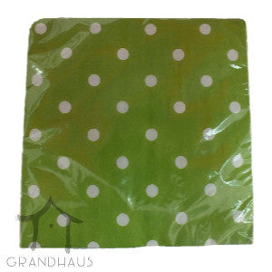 Green Polka Dots Serviette