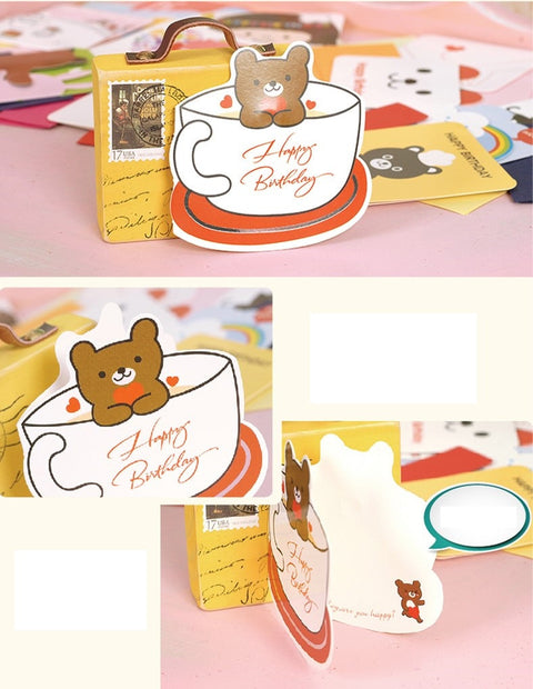 Mini Card - Happy Birthday (Teddy in a Cup)