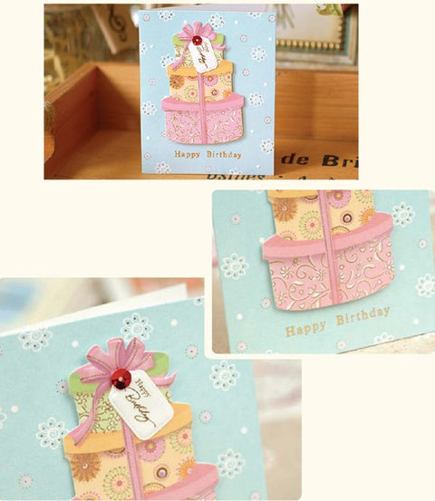 Mini Card - Happy Birthday (Presents) 3D