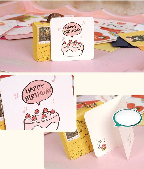 Mini Card - Happy Birthday (Cake-y)