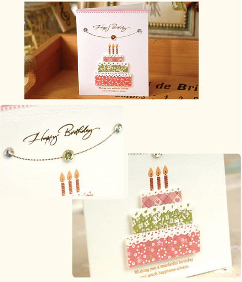 Mini Card - Happy Birthday (Layer Cake) 3D