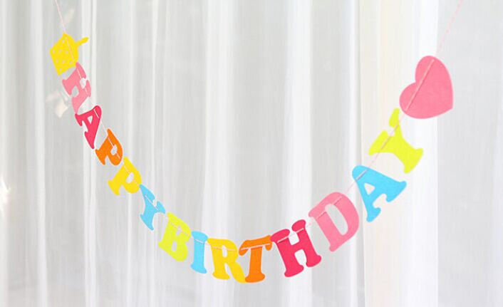 Happy Birthday Banner (Felt)