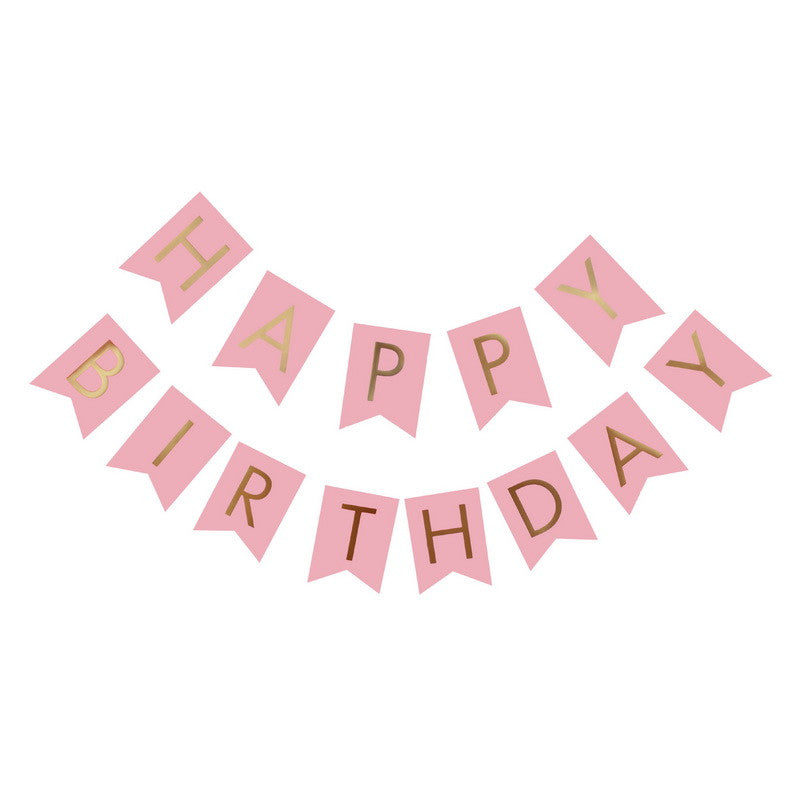 Happy Birthday Banner - Pink