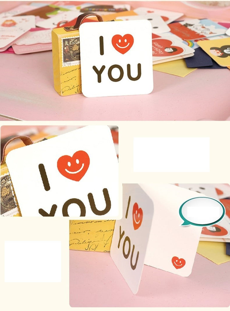 Mini Card - I Love You (Smiley Heart)