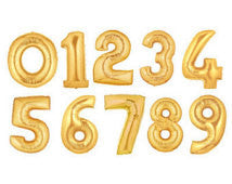 Numerical Balloon - Gold