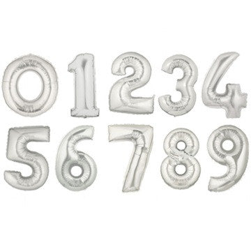 Numerical Balloon - Silver