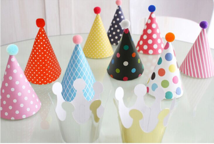 Patterned Party Hat Set
