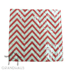 Red Chevron Serviette
