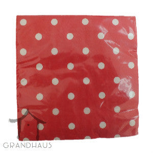 Red Polka Dots Serviette