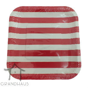 Red Stripes Square Plate  sc 1 st  Grandhaus & Red Stripes Square Plate \u2013 Grandhaus