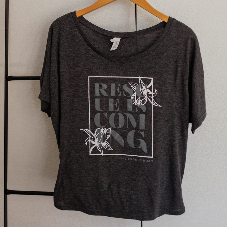 Rescue is Coming Open Back Tee