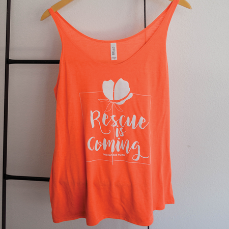 Slouchy Coral Tank