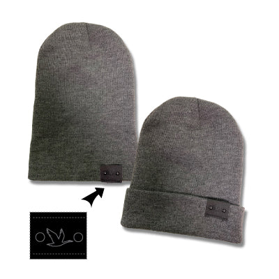 Wawa Knit Convertible Slouch Hat Dark Heather Grey