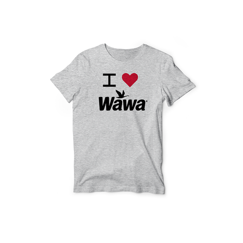 Youth Grey I Love Wawa T-shirt