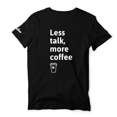 Wawa Less talk, more coffee black short sleeve Tee