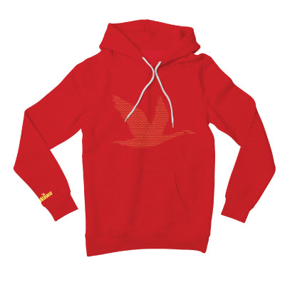 Wawa Premium Soft Red w/Gold Goose Pullover Hoodie