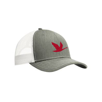 Wawa Goose Trucker Hat Heather Grey/White Mesh Adjustable Closure