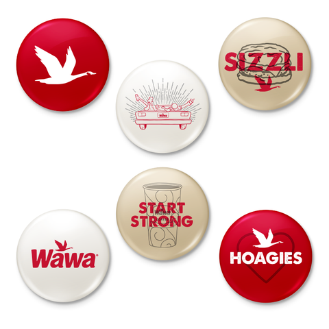 Wawa Collectible Button Pack