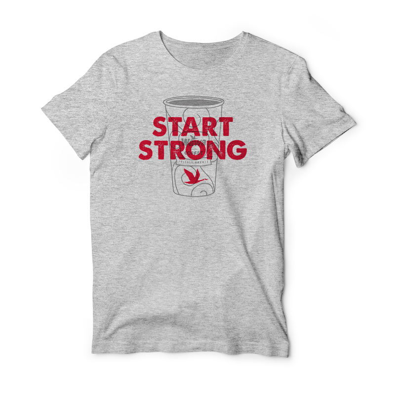 START STRONG Wawa Coffee Grey Soft T-Shirt