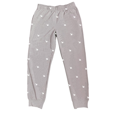 Wawa Joggers Light Grey with White Wawa Goose Logo All-Over Imprint Unisex