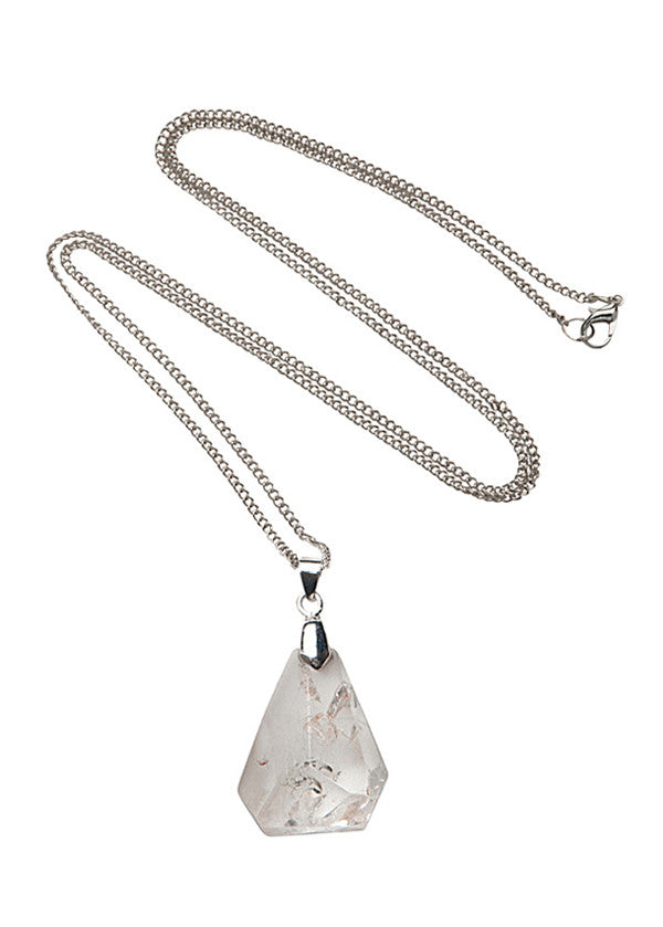 Clear Quartz Stone Drop Pendant