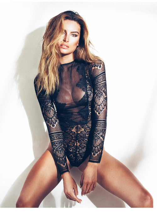 Inked Lace One Piece Bodysuit