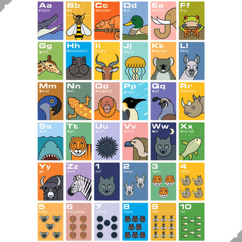 Animal A to Z Poster by Andy Tuohy