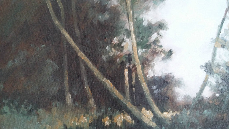Lombard Street Gallery Margate Anthony Giles oil painting Leaning Willows Blean Woods Kent