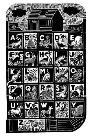 Ark Alphabet by Hugh Ribbans (Limited Edition Print)