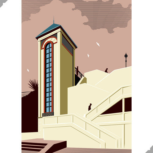 Lombard Street Gallery Margate Andy Tuohy Broadstairs Millennium Lift Limited Edition Giclee Print