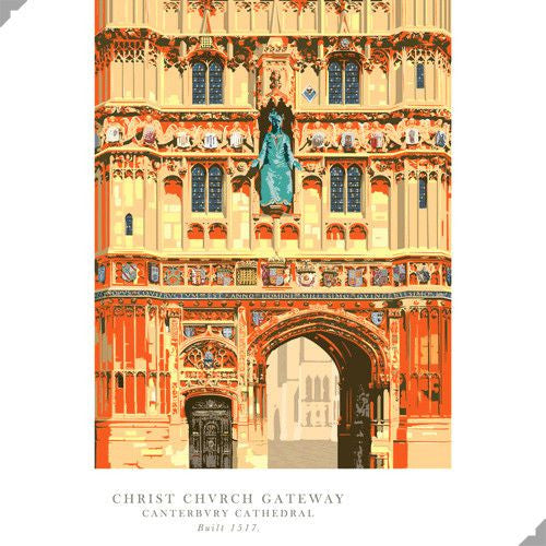 Lombard Street Gallery Margate Andy Tuohy Christ Church Gateway Poster