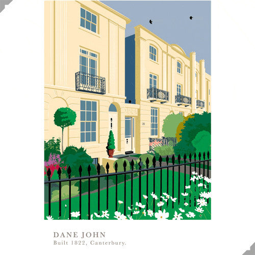 Lombard Street Gallery Margate Andy Tuohy Dane John Gardens Canterbury Limited Edition Giclee Print