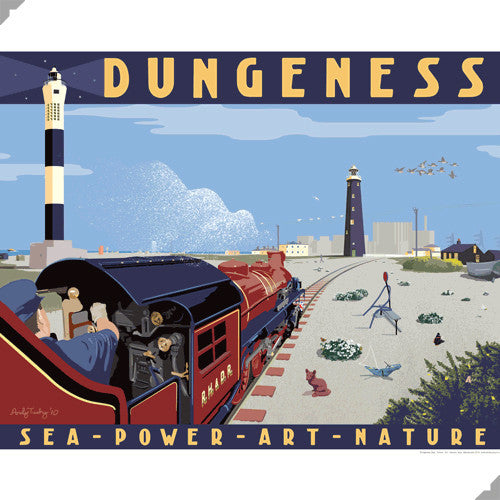 Lombard Street Gallery Margate Andy Tuohy Dungeness Poster