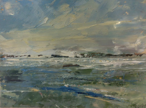 Just Off Shore by Graham Tovey (Oil painting on Paper)